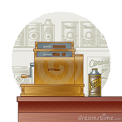 Retro cash register