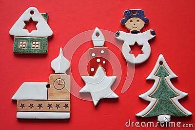 Retro ceramic christmas decorations