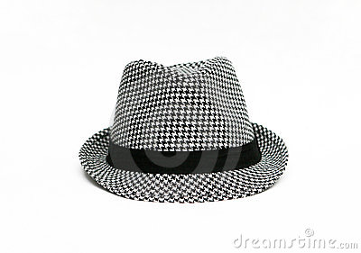 Retro Checkered Fedora Hat