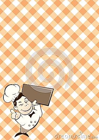 Retro Chef Cartoon Character