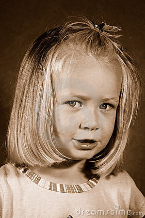 Retro child portrait