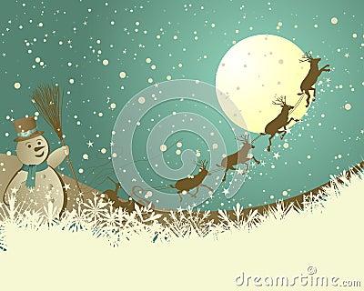 Retro  Christmas (New Year) card
