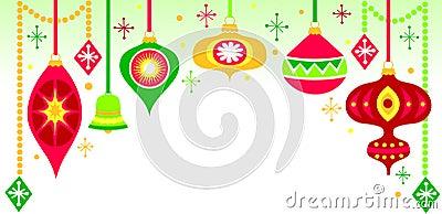Retro Christmas Ornament Background/eps