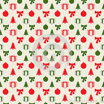 Retro Christmas pattern