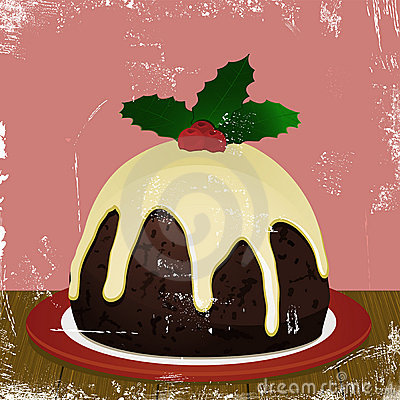 Retro Christmas pudding
