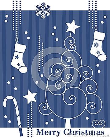 Retro Christmas Tree Card [2]