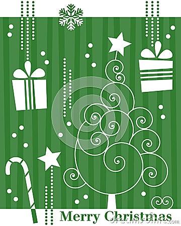 Free Retro Christmas Tree Card [3] Royalty Free Stock Photography - 11598627