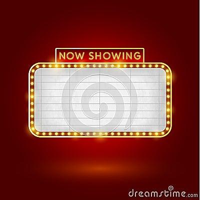 Free Retro Cinema Sign Royalty Free Stock Photo - 40935545