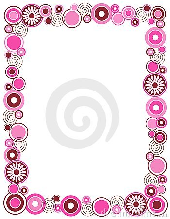 Retro circle frame