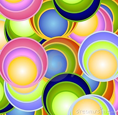 Retro Circles Balls Spheres