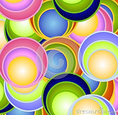 Retro Circles Balls Spheres