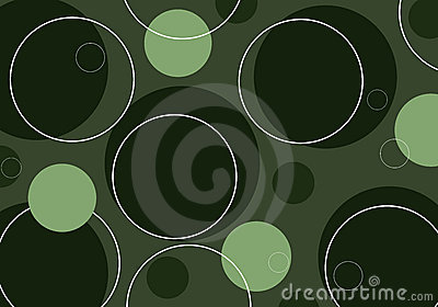 Retro circles - green