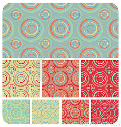 Retro Circles Pattern Set