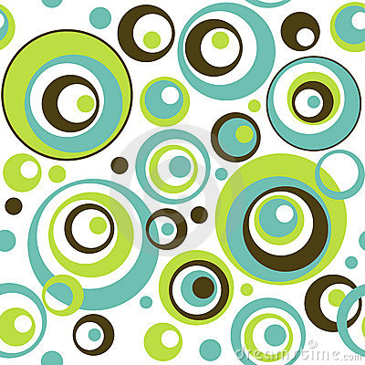 Free Retro Circles Seamless Wallpaper Pattern Stock Image - 8581281