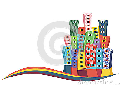 Retro City Vector Illustration