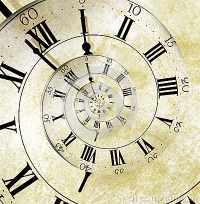 Free Retro Clock Face Spiral Royalty Free Stock Image - 24664286