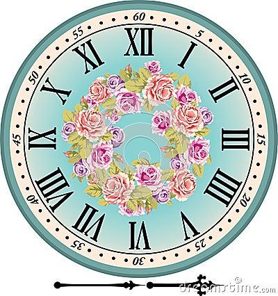 Retro clock isolated