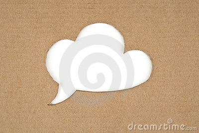 Retro cloud for message