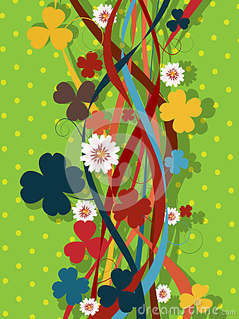Retro clover pattern