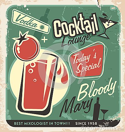 Free Retro Cocktail Lounge Vector Poster Design Royalty Free Stock Images - 32622989