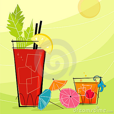 Free Retro Cocktails (Vector) Royalty Free Stock Image - 2564796