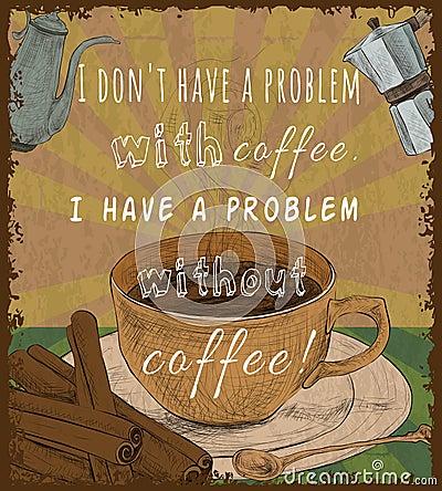 Free Retro Coffee Cup Poster Stock Photos - 40781743