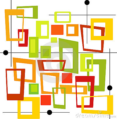 Retro Colorful Squares (Vector