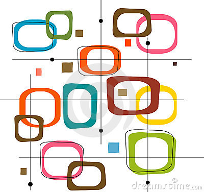 Free Retro Colorful Squares (Vector Stock Photo - 2564830