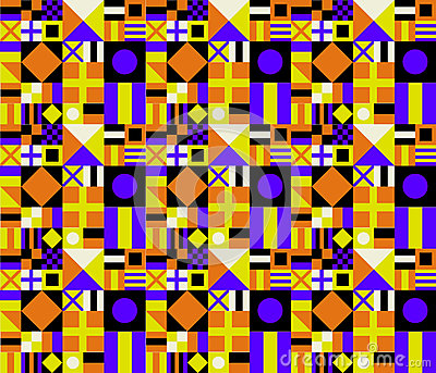 Retro Colors Geometric Pattern