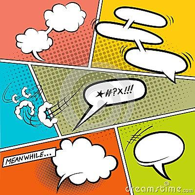 Free Retro Comic Speech Bubbles Stock Images - 31707064