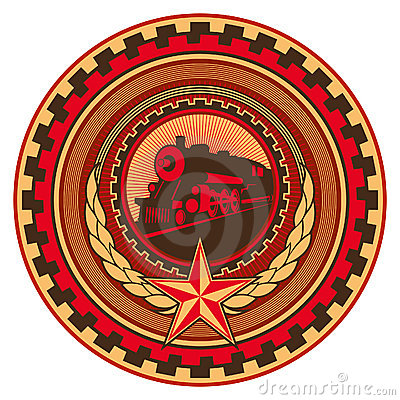 Retro communistic emblem.
