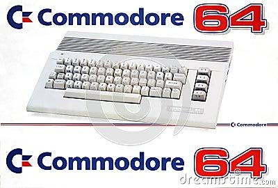 Retro Computer Commodore 64 Editorial Stock Image