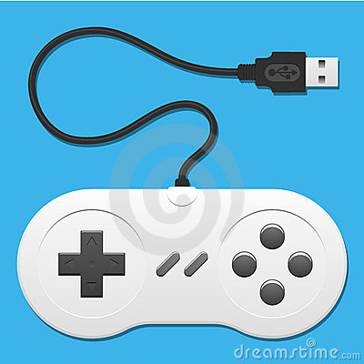 Retro controller with usb cable