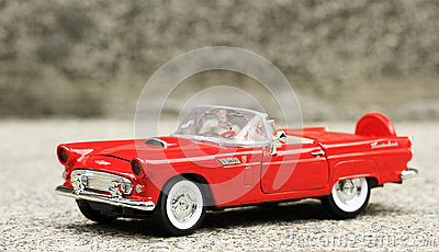Retro convertible toy car