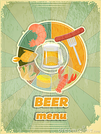 Retro Cover Menu for Beer