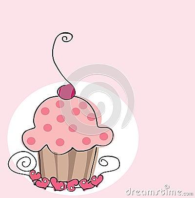 Free Retro Cupcake Royalty Free Stock Image - 7550366