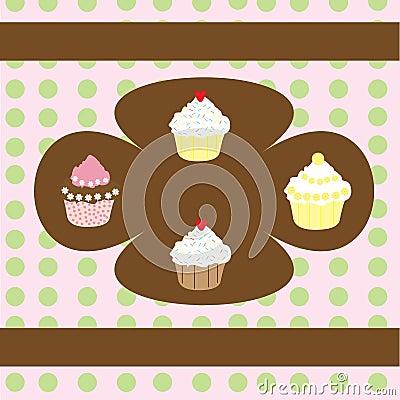 Retro Cupcakes Background