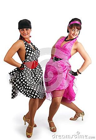 Retro dancers, 80 s