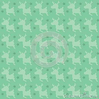 Retro deer pattern