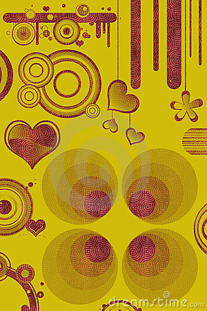Retro designs and hearts