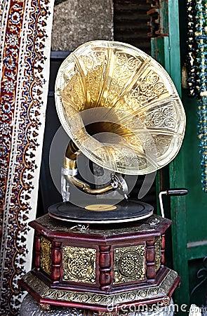 Antiquarian record player