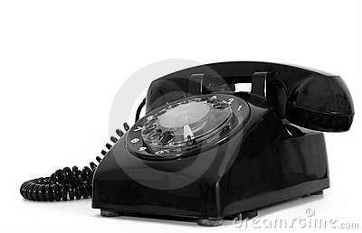 Retro dial style black house telephone