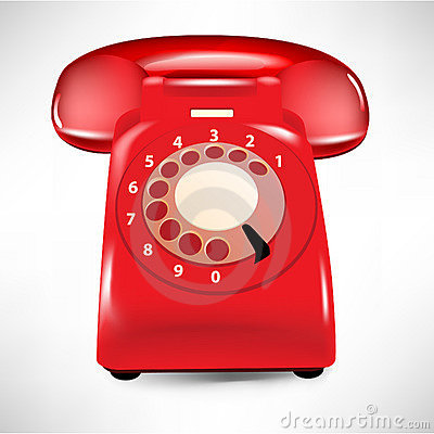 Retro dial style house telephone
