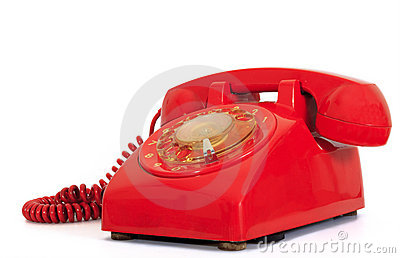 Retro dial style red house telephone