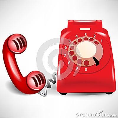 Retro dial telephone and receiver