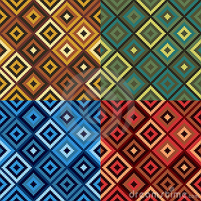 Free Retro Diamond Quilt Pattern Royalty Free Stock Image - 19213786