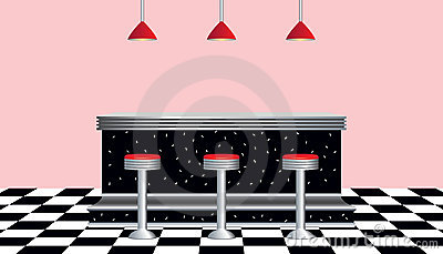 Retro Diner 1950s Style Stock Images Image 13976634