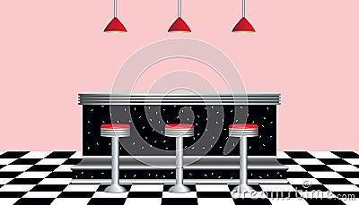 Retro Diner 1950s Style