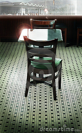 Retro diner setting
