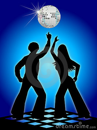 Retro Disco Dancers Blue/eps